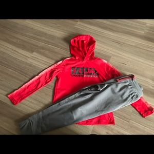 Under armour boys size xs hoodie shirt & pants